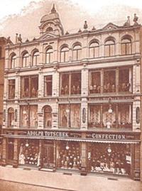 Textilhaus Totschek, Steinstraße 2 - 5, um 1910
