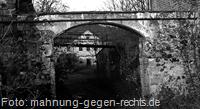 Der Eingang zum Lager Biesnitzer Grund