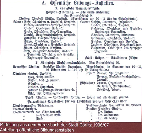Adressbuch der Stadt Görlitz