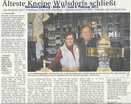 Kneipe in Wulsdorf