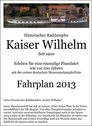 Fahrplan 2013