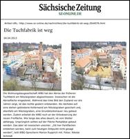 Alte Tuchfabrik verschwindet