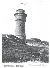 Wasserturm von der Nordseeinsel Borkum