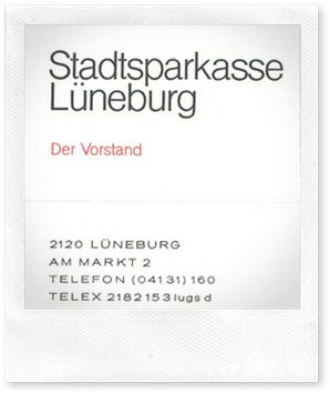 Briefkopf der ehemaligen Stadtsparkasse Lüneburg