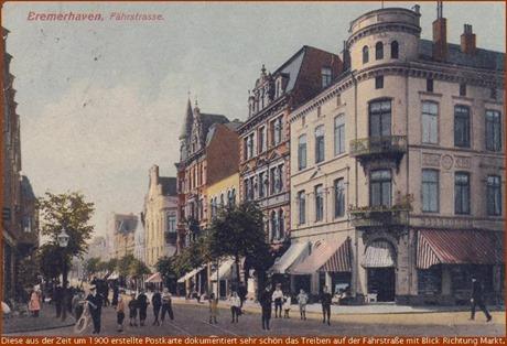 Um 1900 die Fährstraße in Bremerhaven
