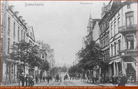1900 Fährstrasse in Bremerhaven Blickrichtung Markt