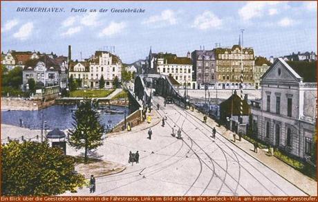 Bremerhavener Fährstrasse mit Geesteufer