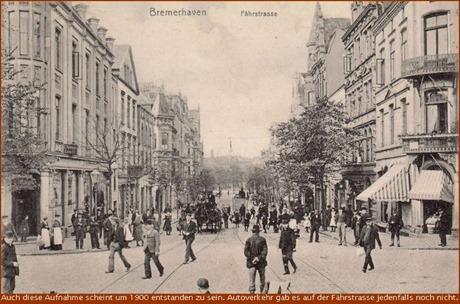 Um 1900 die Bremerhavener Fährstrasse