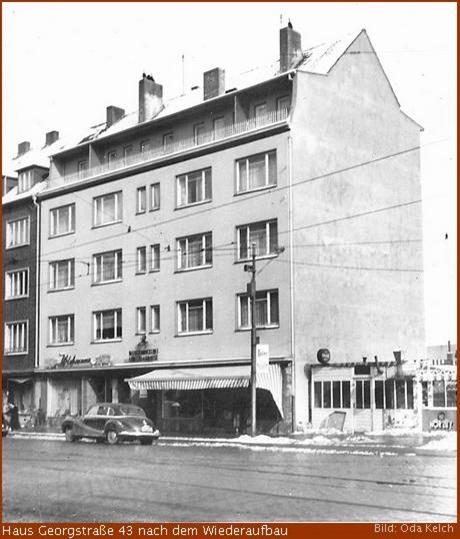 Georgstraße 43 in Geestemünde nach dem Wiederaufbau
