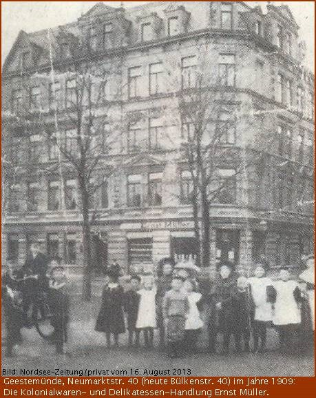 Bülkenstrasse 40 im Jahre 1909