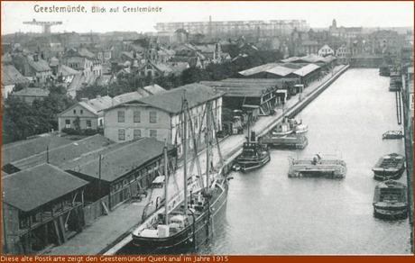 1915 Querkanal Geestemünde