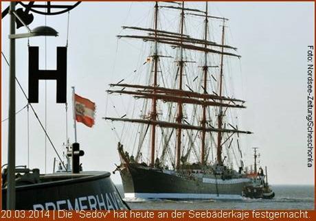 Sedov liegt in Bremerhaven