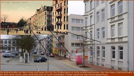 Bülkenstrasse damals und heute