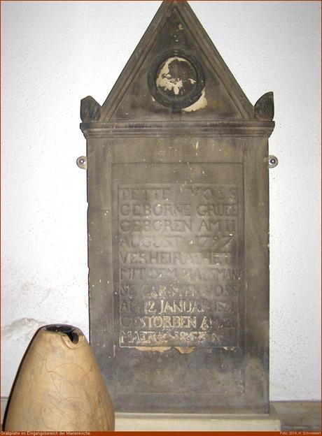Grabplatte Marienkirche Geestemünde