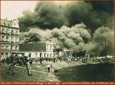 Grossfeuer am Holzhafen Geestemünde