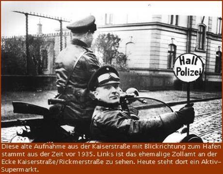 Polizeikontrolle in der Kaiserstraße