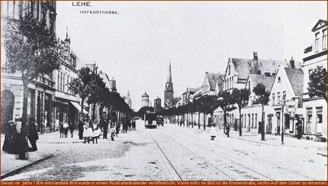 Hafen, Ecke Kistnerstr (1906 - Quelle.. Postkartenkalender)