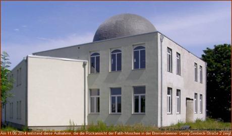 Rückansicht der Fatih-Moschee in Bremerhaven