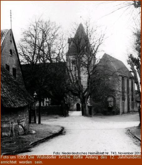Wulsdorfer Kirche um 1920