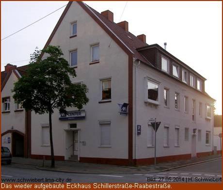 2014 | wieder aufgebaute Eckhaus an der Schillerstraße Ecke Raabestraße