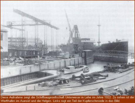1922 Schiffbaugesellschaft Unterweser