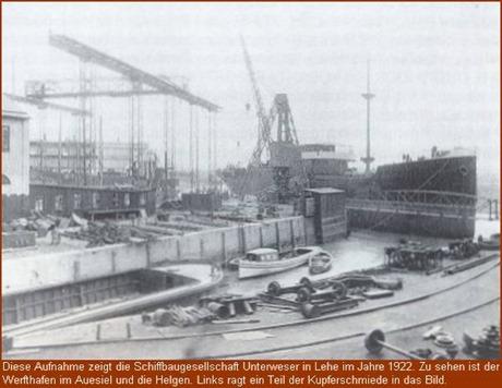 Schiffbaugesellschaft Unterweser im Jahre 1922