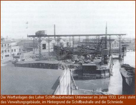 Schiffbaugesellschaft Unterweser im Jahre 1933