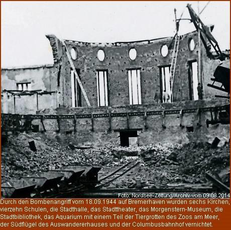 Bombenangriff auf Wesermünde