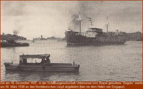 """""""Bogata"""" im Hafen von Singapur"""