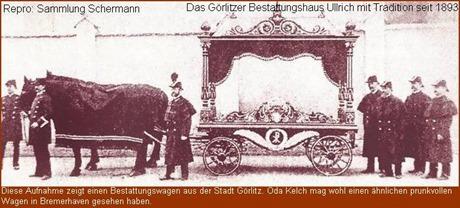 Görlitzer Bestattungswagen um die Wende vom 19. zum 20. Jahrhundert