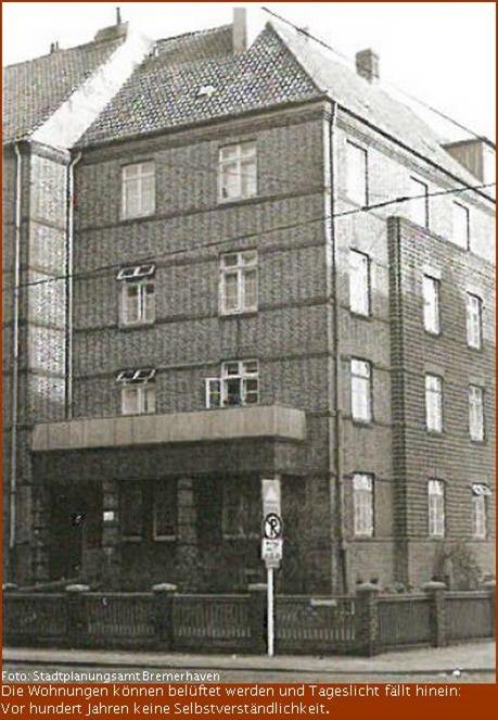 Wohnblock im Erhaltungsgebiet Bremerhaven
