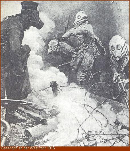 Gasangriff an der Westfront 1916
