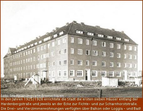 Haus in Bremerhavens Scharnhorstquartier