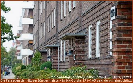 Klinkerbau Bürgermeister-Smidt-Straße 171 - 185 in Bremerhaven