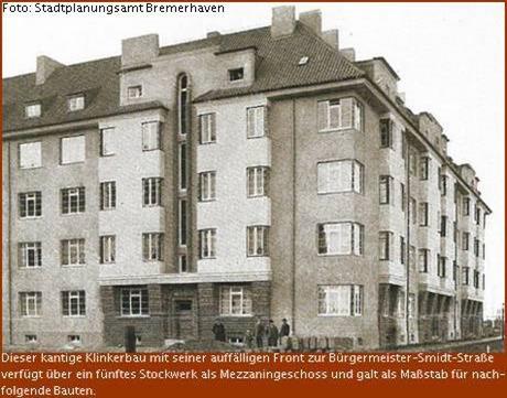 Klinkerbau mit Mezzaningeschoss an der Bürgermeister-Smidt-Strasse