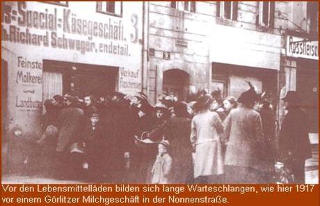 Warteschlange in Görlitz