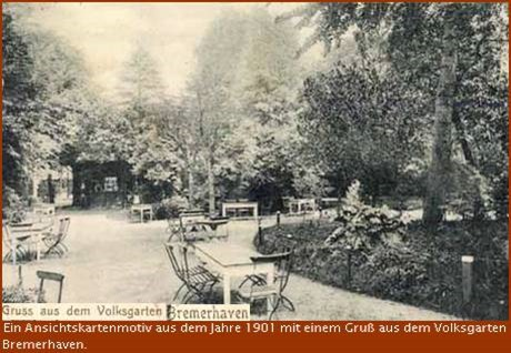 Gruß aus dem Volksgarten Bremerhaven aus dem Jahre 1901