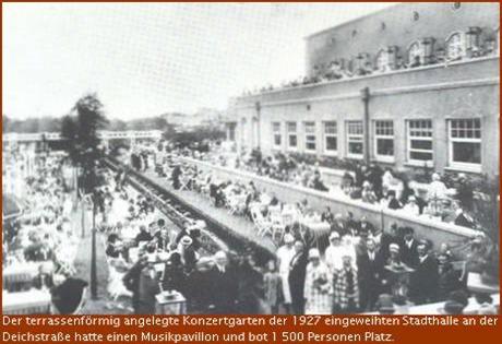 1927 Konzertgarten der Stadthalle in Bremerhaven
