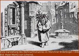 Wihnachtsmann im Münchner Bilderbogen Nummer 50