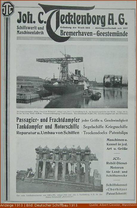 Joh. C. Tecklenborg Werbung