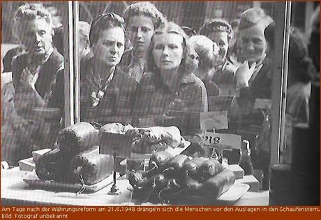 1948 volle Schaufenster