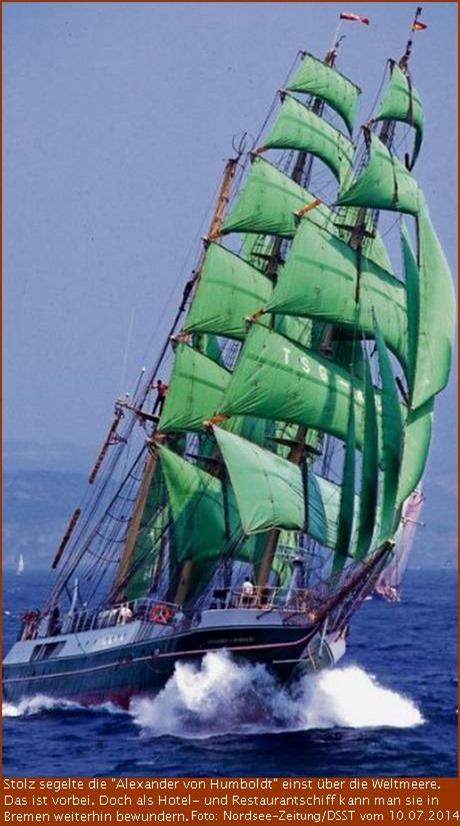 """""""Alexander von Humboldt"""" segelt nach Bremen"""