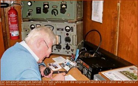 """Funkstation auf der """"Seefalke"""""""