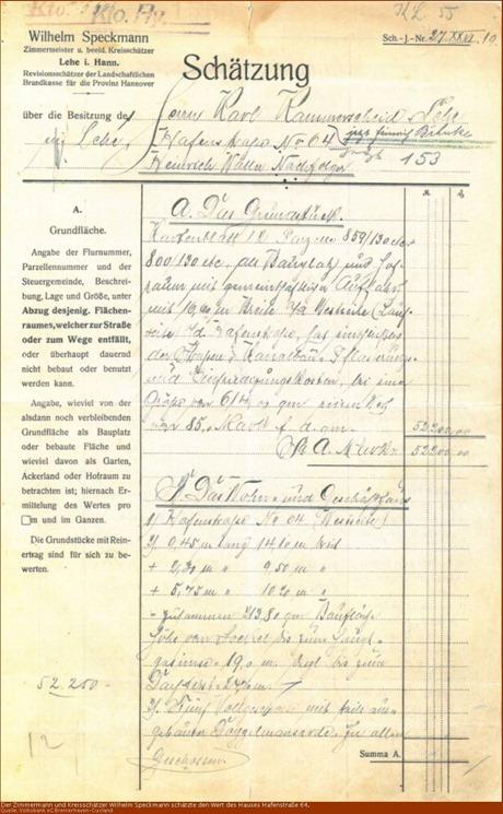 1919 Wertschätzung Hafenstraße 64