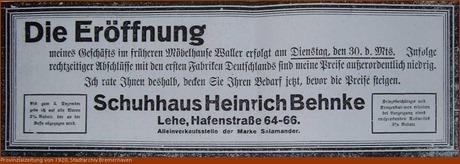 1920 Schuhhaus Behnke
