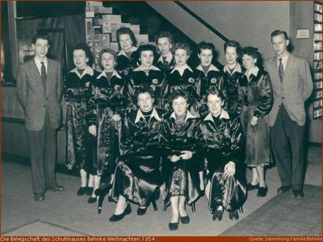 1954 Belegschaft Schuhhaus Behnke