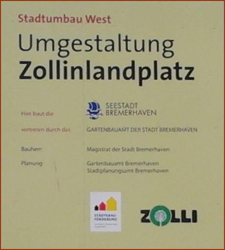 Umgestaltung Zollinlandplatz