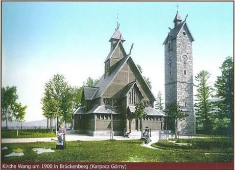 Kirche Wang um 1900