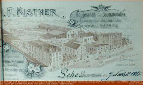 Briefkopf der Firma H. F. Kistener