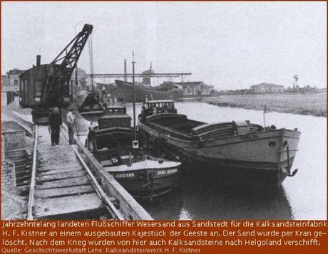 Flussschiffer an der Geestekaje